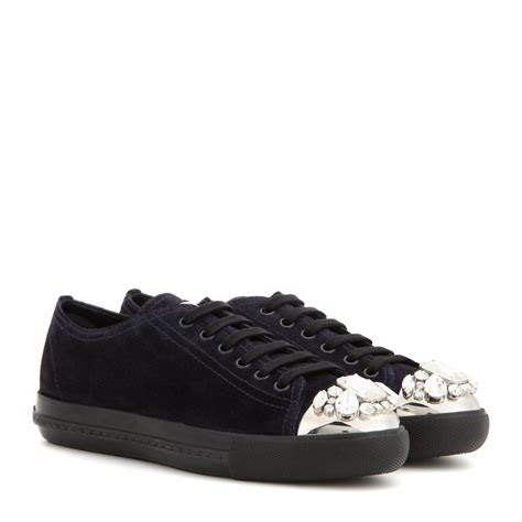 Miu Sneker Swaroksy miu miu sneakers 28 images miu miu patent leather skate sneakers in black lyst miu miu