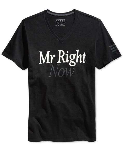 T Shirt Mrright Black guess mr right now t shirt in black for lyst