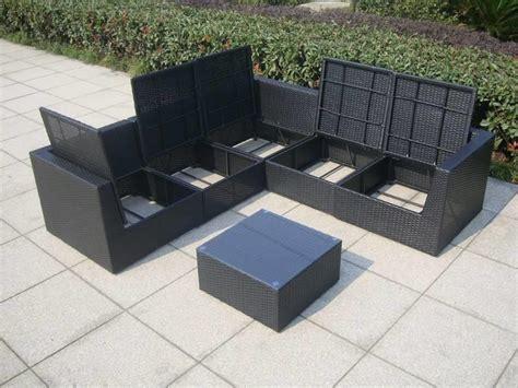 loungeset zwart loungeset met opbergruimte voor kussens surprise zwart