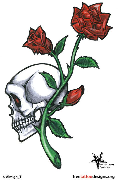 skull rose tattoo designs skull tattoos grim reaper tattoos deer sugar bull