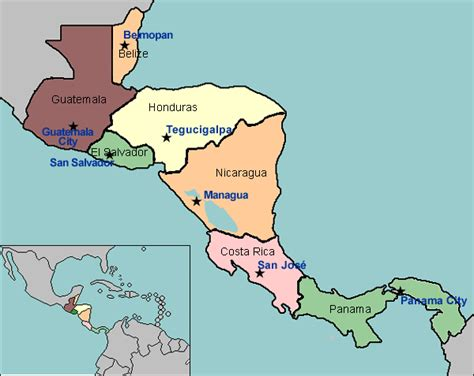 central america map with states and capitals south america and central america capitals map quiz
