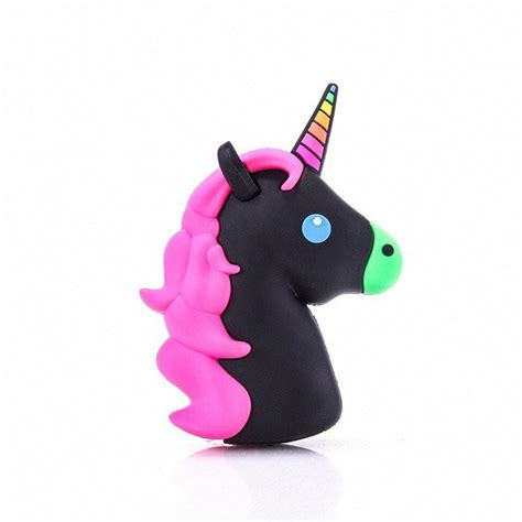 Powerbank Unicorn kawaii black unicorn emoji portable powerbank charger for iphone and my is cuter