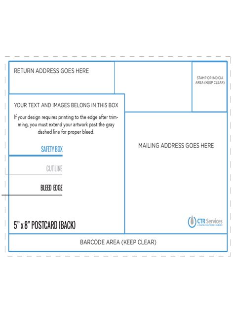 8 5x5 5 Postcard Template by Postcard Back Template 10 Free Templates In Pdf Word