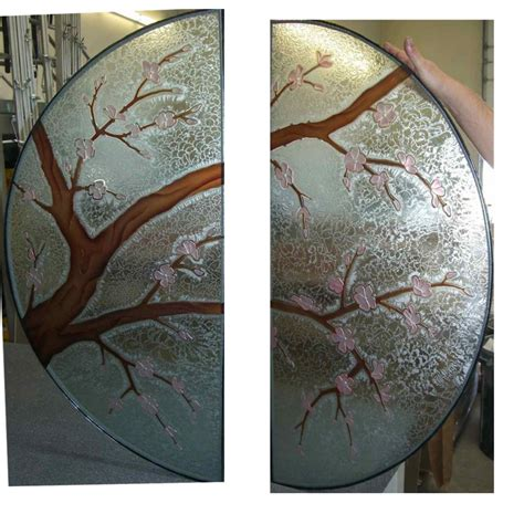 Decorative Glass Doors, Windows, Table   Cherry Blossom