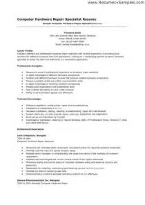 Computer Hardware Technician Sle Resume by Career Specialist Resume Sle