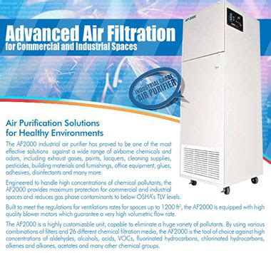 dust heavy chemical odor removal air filtration systems