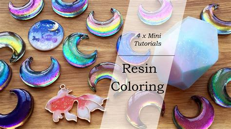 how to color resin mini resin tutorials resin coloring color shifting