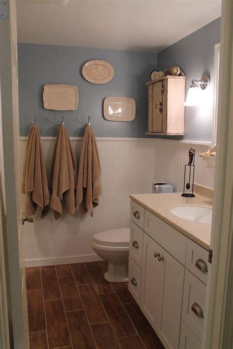 wood tile bathrooms beadboard bathroom bathroom white beadboard wood tile