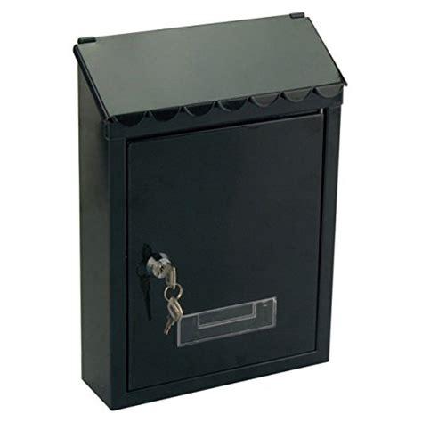 cassetta per posta cassetta per posta nera in alluminio con chiave 30 5x22 cm