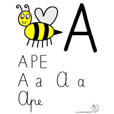 disegni per lettere disegno di lettera a di ape a colori per bambini