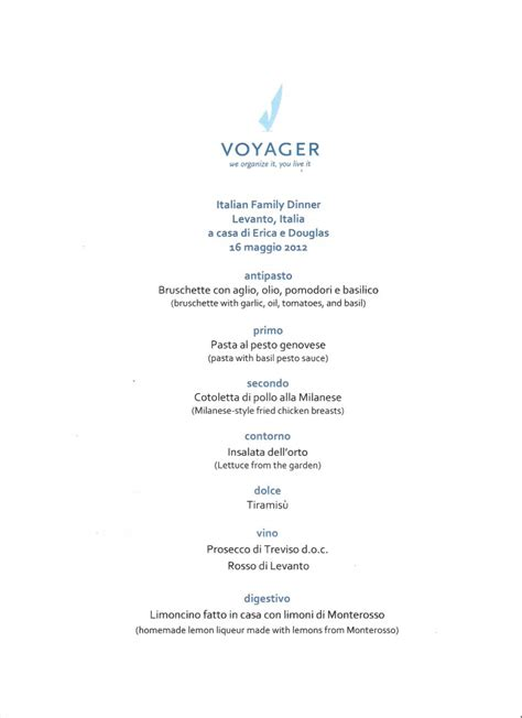 italian dinner menu out and ordering in restaurants in italy voyager
