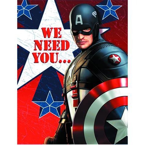 Captain America Birthday Card Template by Previewsworld Captain America Invitations 8pk C