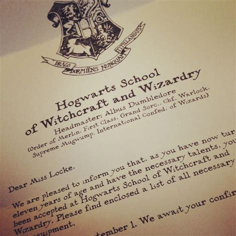 Harry Potter Acceptance Letter Text 25 Best Ideas About Hogwarts Letter Template On
