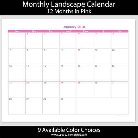 2017 12 month landscape calendar 5 5 x 8 5 legacy 2018 12 month landscape calendar 8 1 2 quot x 11 quot legacy