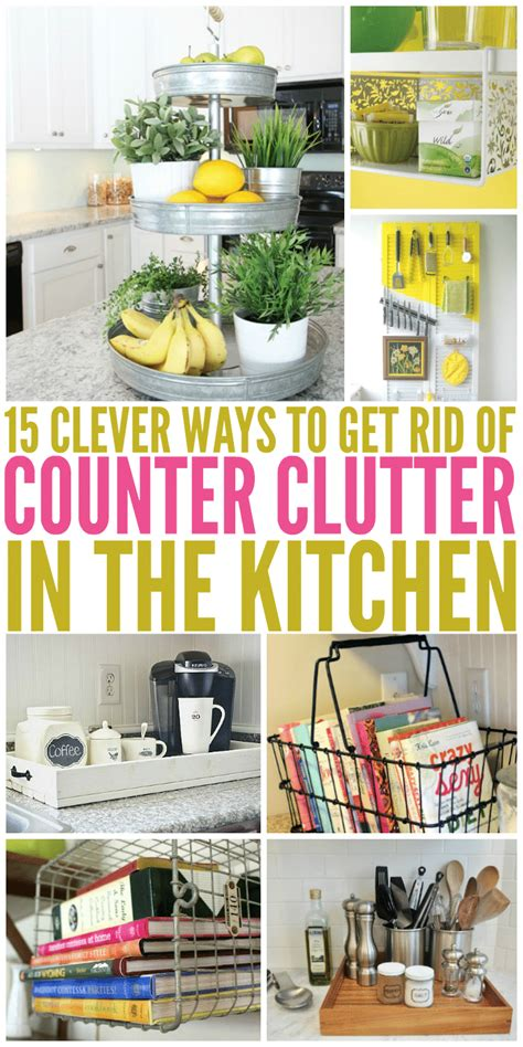 ways to organize your kitchen 15 clever ways to get rid of kitchen counter clutter