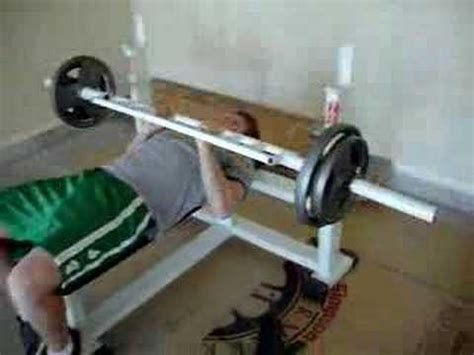 home made weight bench homemade tricep bar bench press youtube