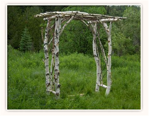 Garden Arbor Made From Branches How To Build A Garden Arbor Out Of Branches And Limbs