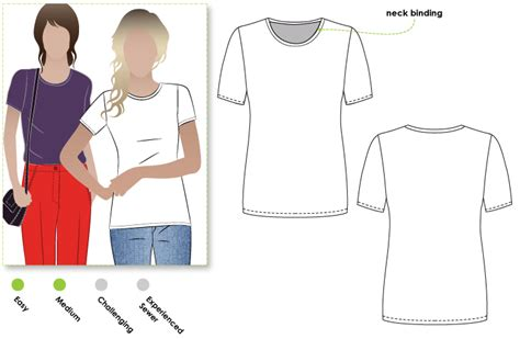 pattern review style arc stylearc alannah t shirt