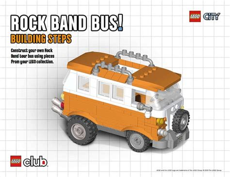 lego rock tutorial instructions for the lego rock band bus now available