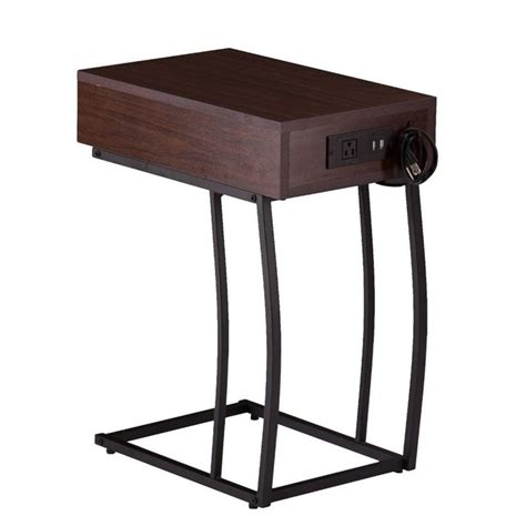 side table with power southern enterprises porten side table with power and usb