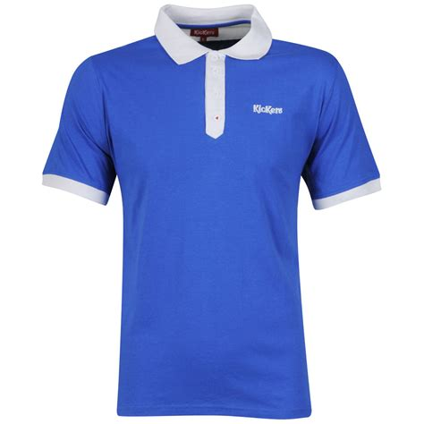 Polo Shirt Kickers Istimewa kickers s touchline polo blue clothing zavvi