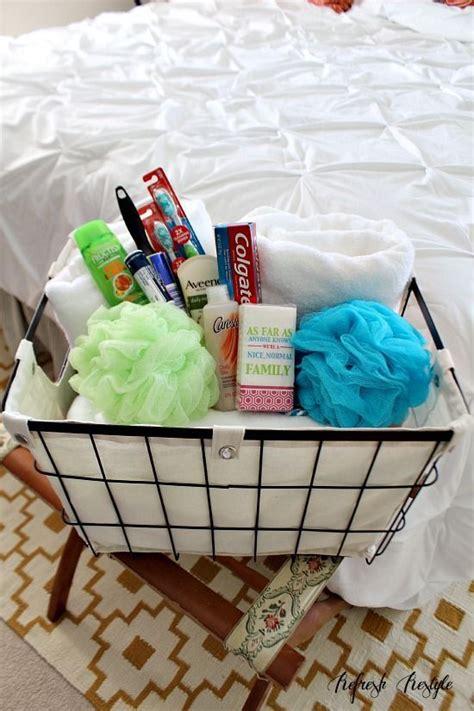 guest bathroom essentials 17 best ideas about guest welcome baskets on pinterest