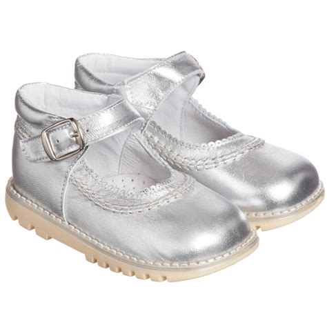 silver kid shoes children s classics silver leather shoes