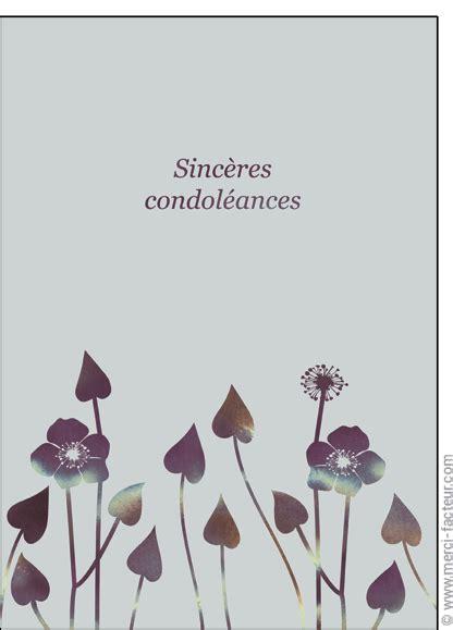 Modele Carte Condoleance