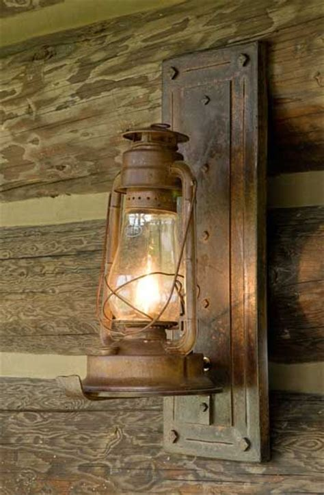 Rustic Cabin Light Fixtures Converted To Electric L For Outdoor Lighting It Lol I About 15 Mis