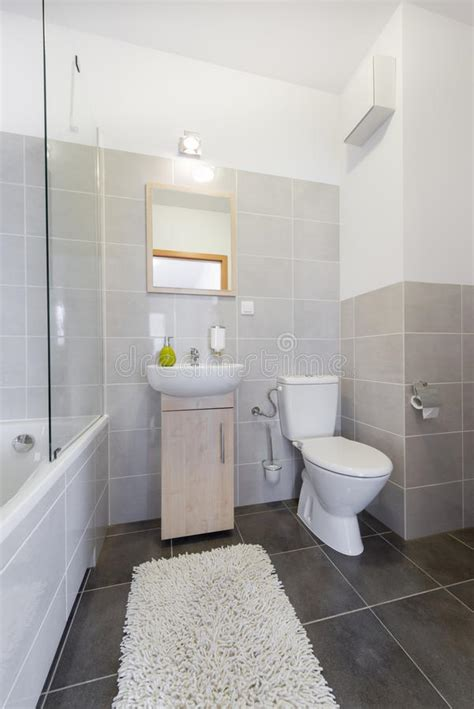 bidet z prysznicem small bathroom in scandinavian style stock photo image