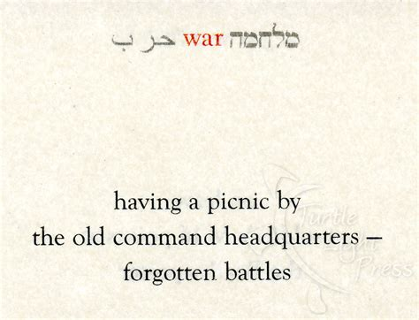 peace and war in israel captured in haiku poems turtle
