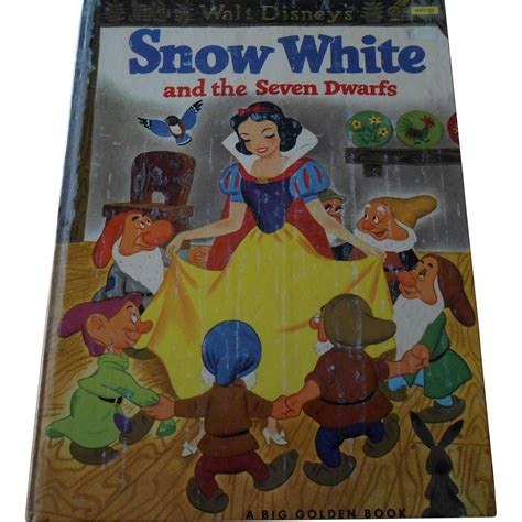 snow white and the seven dwarfs picture book 1952 snow white and the seven dwarfs big golden book from