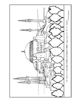hagia sophia coloring page and lesson plan ideas sunday