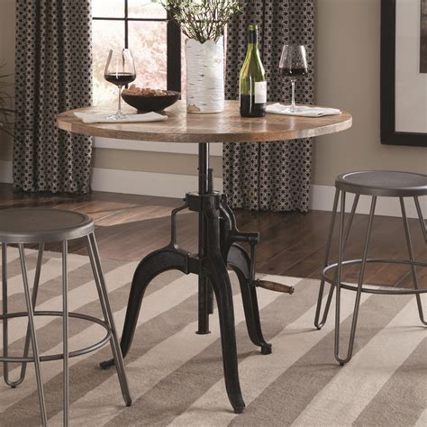 Coaster Galway Adjustable Height Dining Table With Crank Coaster Dining Room Furniture
