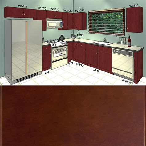 villa cherry kitchen cabinets collection aaa distributors lesscare villa cherry 10x10 kitchen cabinets group sale