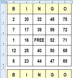 Create Bingo Cards In Excel Contextures Blog Bingo Template Excel