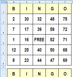 random number cards printable create bingo cards in excel contextures blog