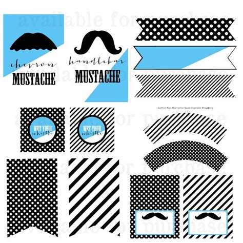 mustache template for baby shower jojo boo designs free little man mustache bash treat bag