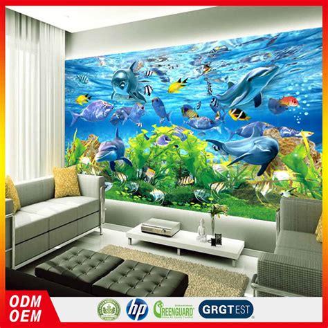 Dekorasi Rumah Peta Wall Sticker Dinding Walpaper Paper Stiker indah air akuarium bawah laut dekorasi rumah kertas dinding mural untuk hotel wallpaper dinding