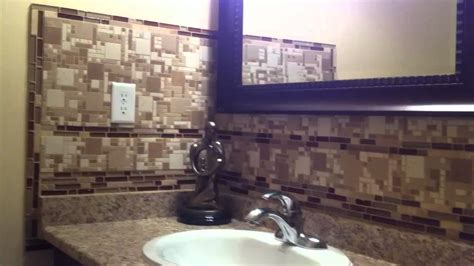 Kitchen Backsplash Tile Installation new bathroom backsplash mosaic glass stone tile mable