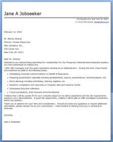 administrative assistant cover letter temp creative