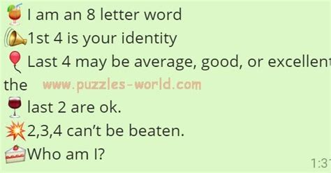 eight letter words i am an 8 letter word who am i whatsapp puzzles world 1195