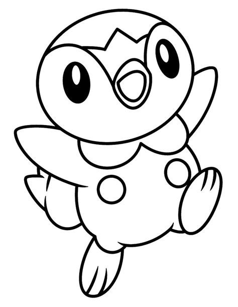 Piplup Pokemon Coloring Pages   AZ Coloring Pages