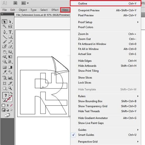 adobe illustrator cs6 outline mode how to use the different preview modes in adobe