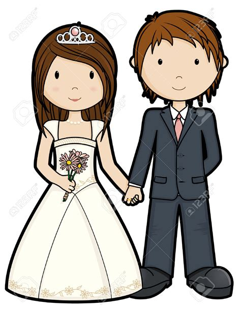 Hochzeit Comic by Just Married Isolated Royalty Free Cliparts Vectors
