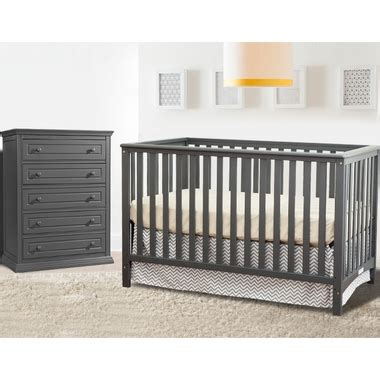 Convertible Crib And Dresser Set by Storkcraft 2 Nursery Set Hillcrest Convertible