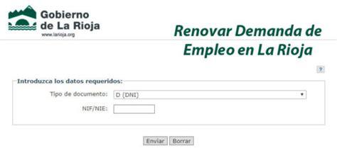 sae oficina virtual de empleo renovar demanda renovar demanda de empleo barcelona treball