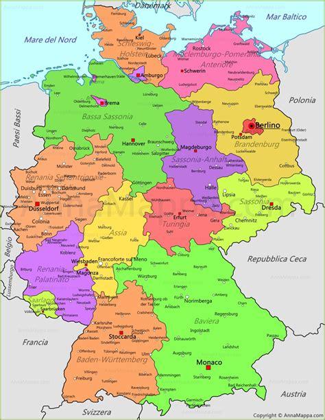 ermany map mappa germania cartina germania annamappa