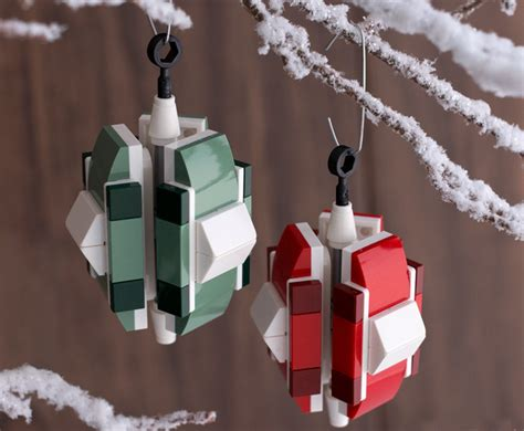 make your own lego christmas ornaments inhabitots