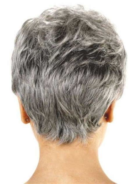back view of short hair for mature and grey hair 60 best short haircuts for older women short hairstyles